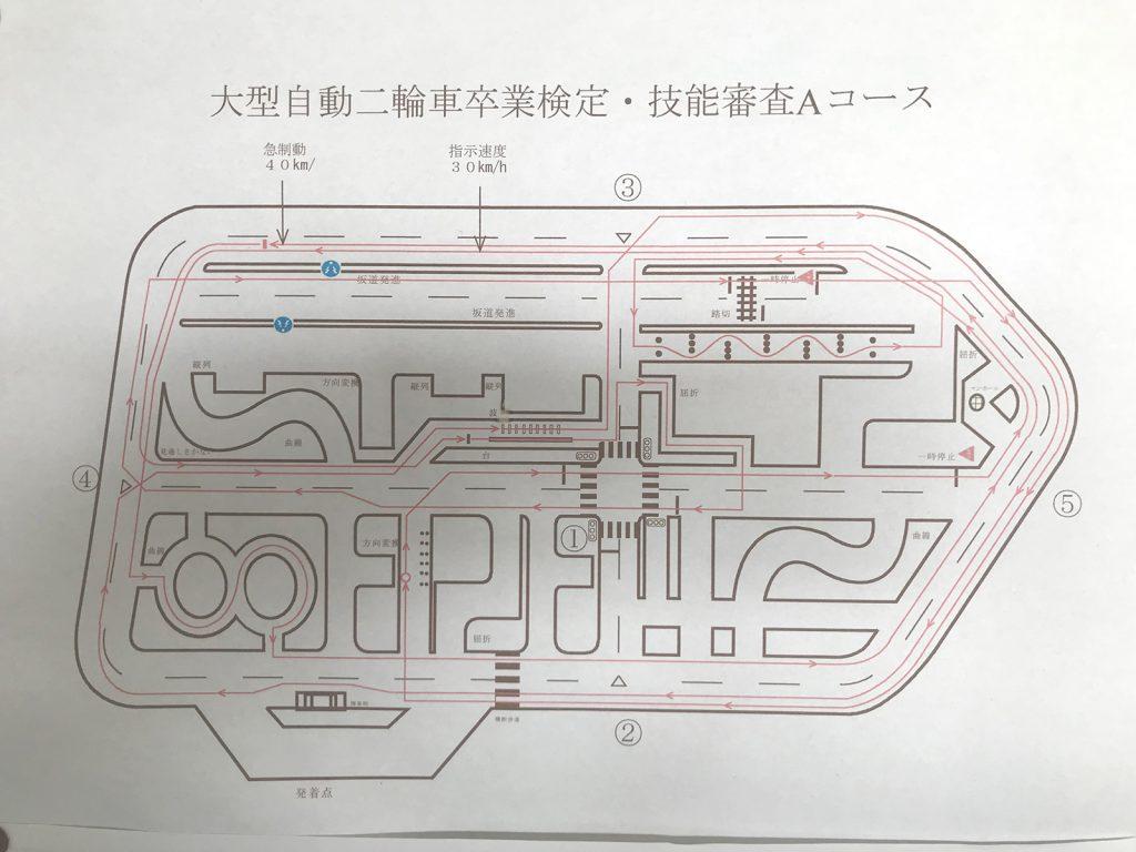 大型自動二輪検定コース